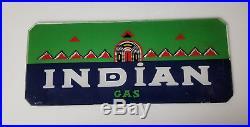 Vintage Texaco Indian Gas pump front Glass Original NOS RARE