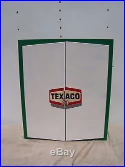 Vintage Texaco Parts Cabinet Antique Gas Pump Sign