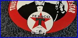 Vintage Texaco Porcelain Motor Oil Gas Attendant Service Station Pump Plate Sign