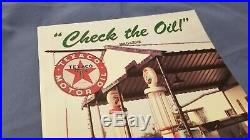 Vintage Texaco Porcelain Sign Gas Oil Service Station Pump Plate Rare Aviation