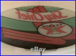 Vintage Texaco Sky Chief Gas Pump Globe Light Glass Lens Service Station Garage
