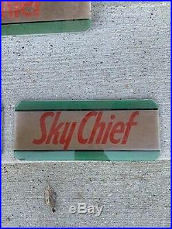 Vintage Wayne 70 Gas Pump Texaco oil Advertising Glass Sky Chief