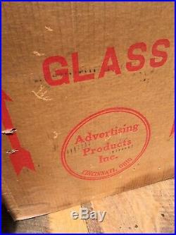 Vintage original Texaco Gas Pump Globe Original Box Capcolite 13.5