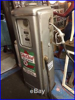 Vintage Signs For Sale >> Vintage unrestored Texaco Sky Chief Tokheim Gas Pump mid century visible sign | Texaco Gas Pump
