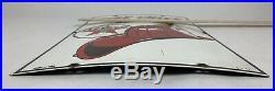 Vtg TEXACO Fire Chief Gasoline Porcelain Enamel Sign, gas pump 3-1-1957