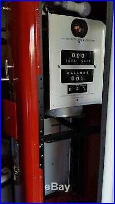 WAYNE MODEL 80 gas pump, Texaco Fire Chief gasoline