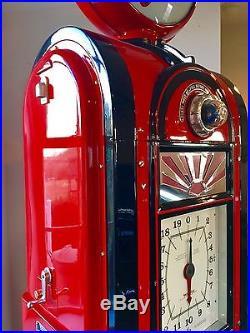 Wayne 60 Gas Pump Completely Restored Texaco Firechief Eco Airmeter SET AS SEEN