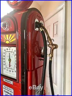 Wayne 60 Gas Pump Completely Restored Texaco Skycheif Gas Pump CAN SHIP