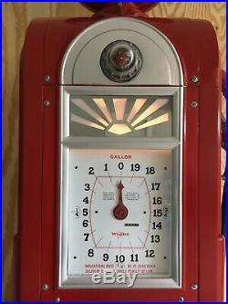 Wayne 866/60 Texaco gas pump, clock face, original, professionally restored