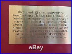 Wayne 866/60 Texaco gas pump, original, professionally restored